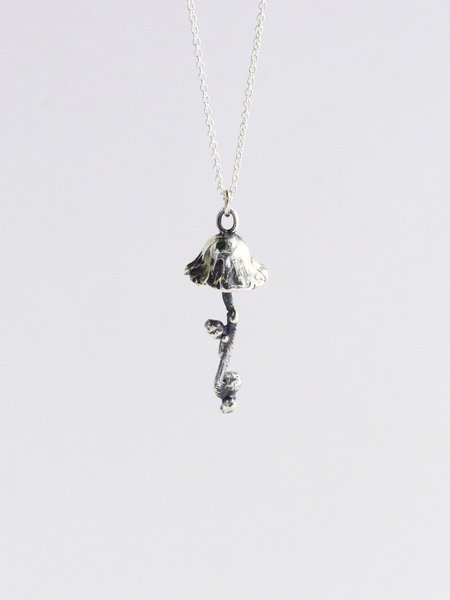 Black Daisies Aliss Pendant Necklace - Sterling silver