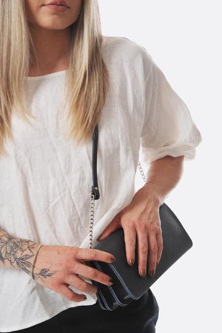 Maria Jobse 3 pocket clutch - dark blue