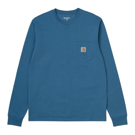 CARHARTT WIP L/S POCKET TEE - SHORE