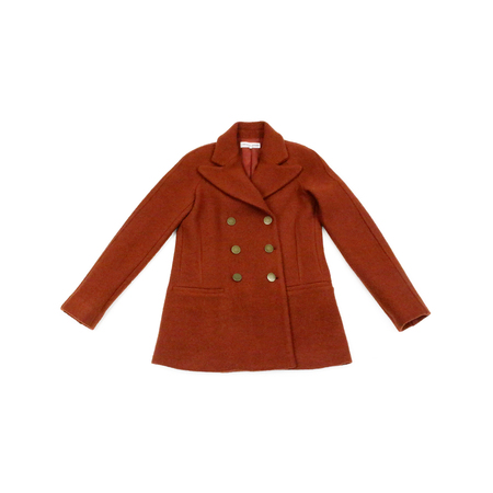 Apiece Apart Short Pea Coat in Red Rock
