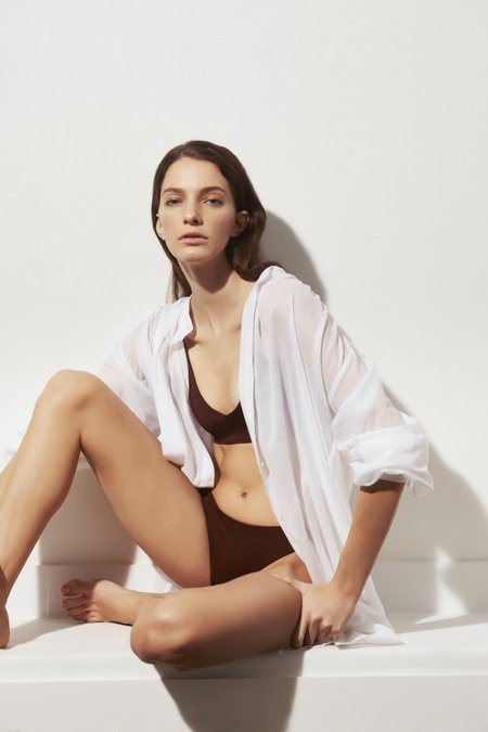 Skin Brea Caftan dress - White