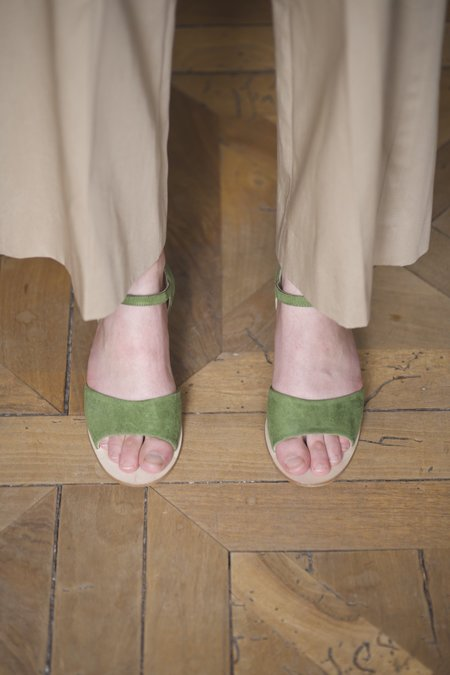 Anne Thomas Emily Sandales Velours sandals - Tartaruga