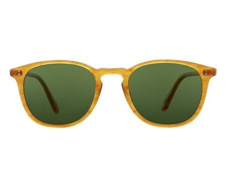 Garrett Leight Kinney 47 eyewear - yellow/green