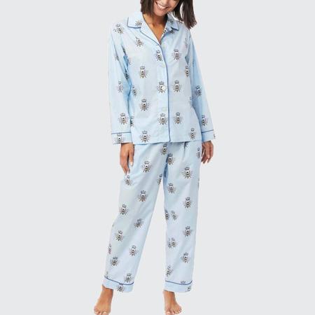 The Cat's Pajamas Queen Bee Luxe Pima Pajama - Blue