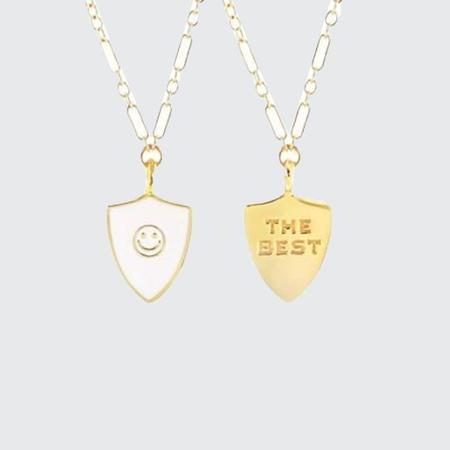 Kris Nations The Best Merit Badge Necklace - WHT