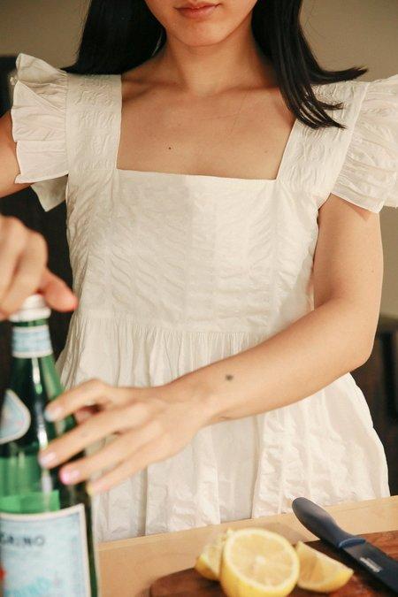 Belle De Jour Frill Mini Dress - White