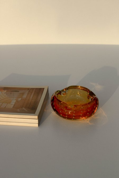 Vintage Bubbled Murano Catchall Dish