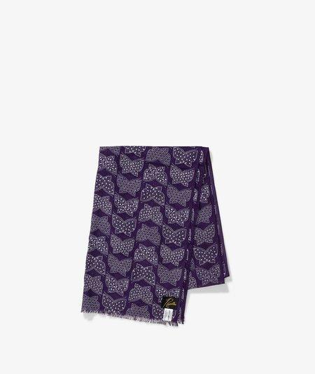 Needles Cotton Gauze Stole - Purple