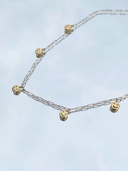 GilbertSuper Smiley Necklace - Silver/Gold