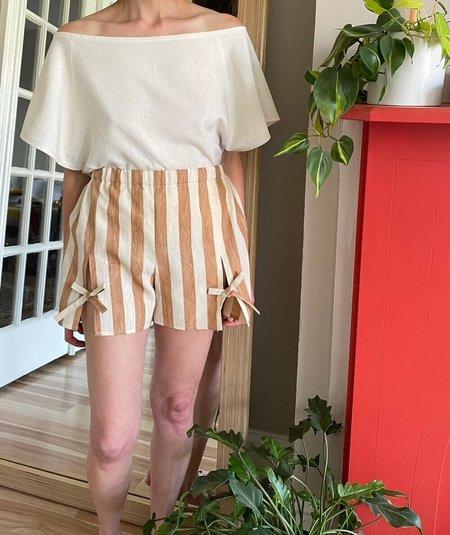 ALICEANNA PARAÍSO shorts - tan/cream