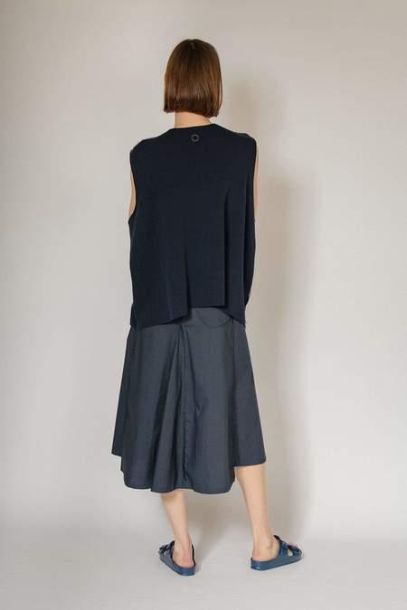 Oyuna Kwa Knitted Sleeveless Jacket - Ink Blue