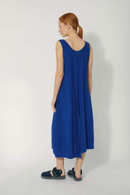 Oyuna Lundi Knitted Sleeveless Panel Dress - Blue Sky