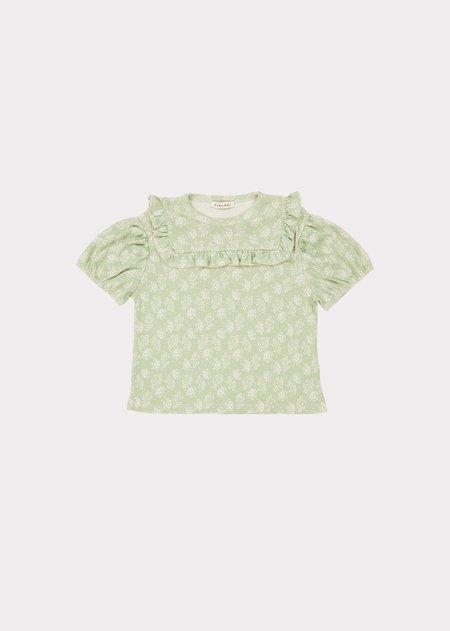 kids Caramel Lionfish T-Shirt - Mint Print
