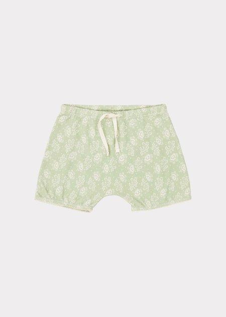 kids Caramel Piranha Shorts - Mint Print