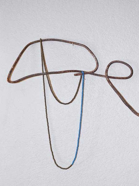 Mitchell Street Metal Hematite & Vintage Glass Necklace
