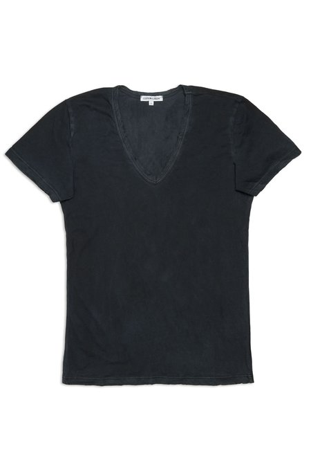 Cotton Citizen Standard V-Neck top - Jet Black