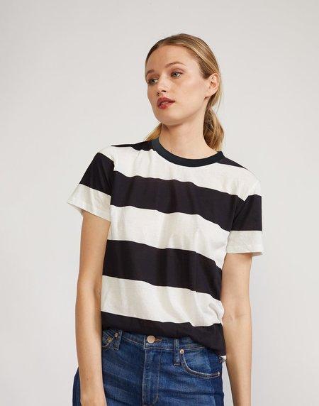 Cynthia Rowley Printed Stripes Tee - BLKWT