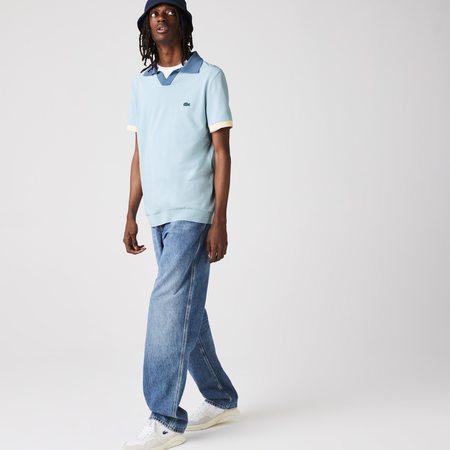 LACOSTE Regular Fit Fresh Cotton Piqué Polo Shirt - Read Light Blue