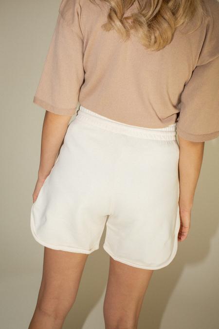 Baserange Sweat Shorts - Off White