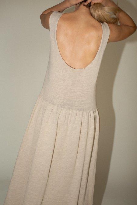 Lauren Manoogian Tier Slip Dress - Greige