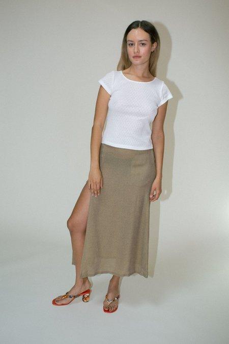 Maryam Nassir Zadeh Vivacity Skirt - Jackfruit