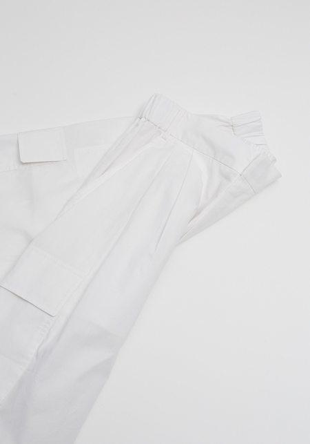 Tibi Vintage Cotton Cargo Shorts - White