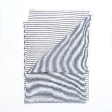Caroline Z Hurley Procida Throw - Large Grey Stripes