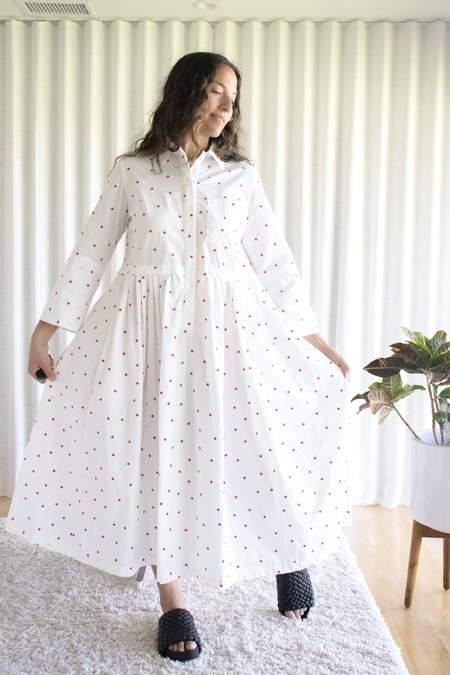 Odeeh Polka Dot Dress - White