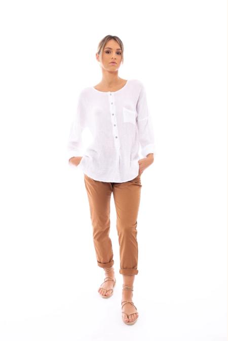 Local Benedetta Double Gauze Shirt - white