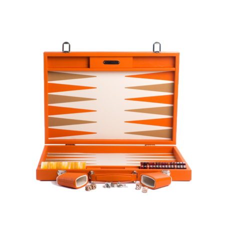 Hector Saxe Backgammon Baptiste Competition 37x52 BC01 - Orange
