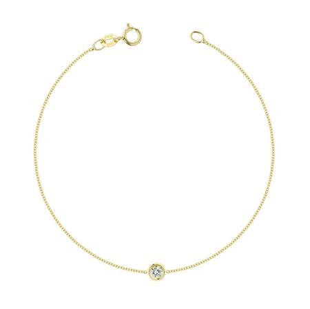 Hortense Flirty Bracelet - 14kt Yellow Gold/2.5mm White Diamond