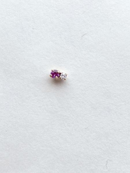 Hortense Double D Earring - 14kt Yellow Gold/Sapphire/Diamond