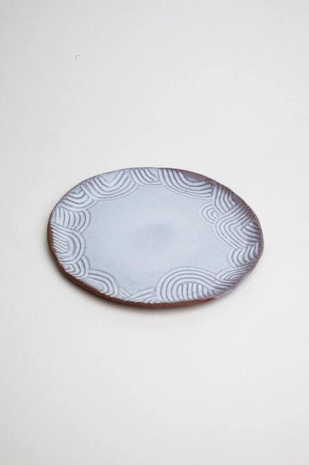 A.Cheng Carved Plates - brown/white