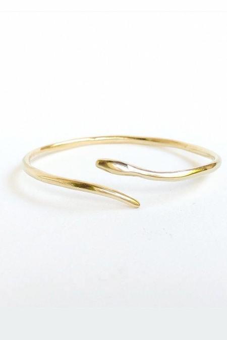 Marisa Mason Serpent Cuff - Brass