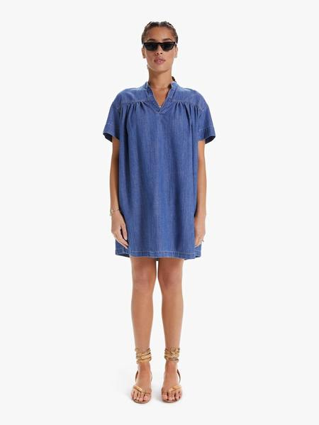 Mother Denim The Gatherer Popover Mini Dress - Simple Things
