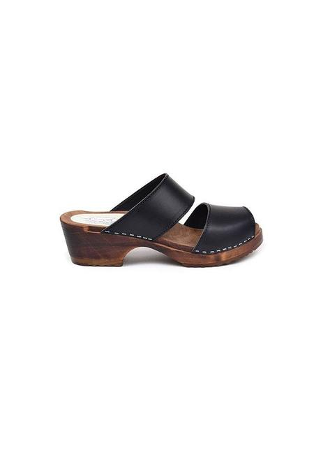 maguba Tokyo Sandal Clog - Black Leather