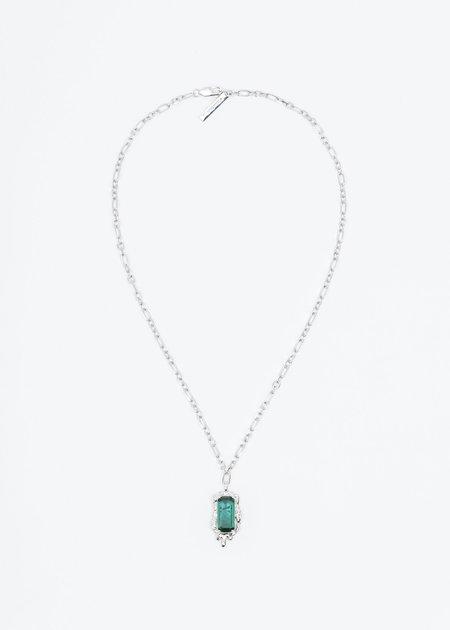 William Shen Stone Necklace - Silver/Green