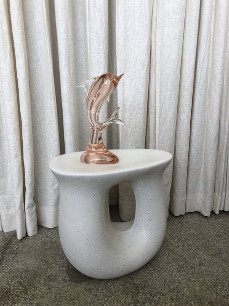 Vintage CRYSTAL DOLPHIN - pink