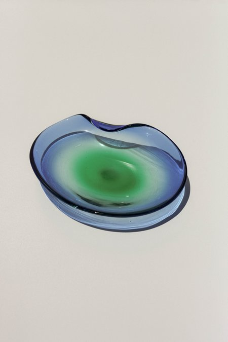 Vintage Murano Ombre Catchall - Blue/Green
