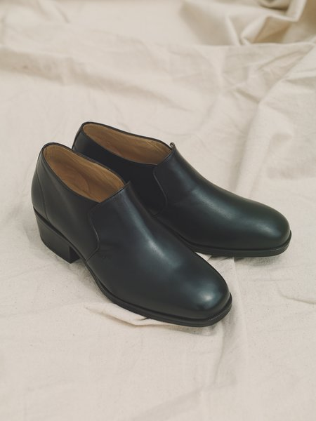 Lemaire Smooth Kidskin Low Boots - Midnight Brown