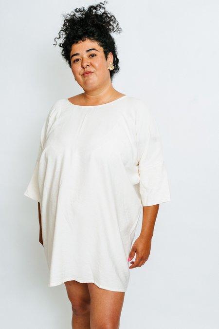 Altar Houseline Woven Batwing Dress - cream