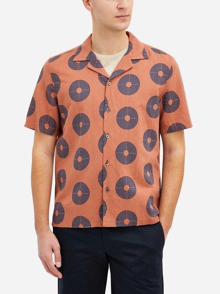 O.N.S Rockaway Mind Maze Print Shirt - Navy Maze