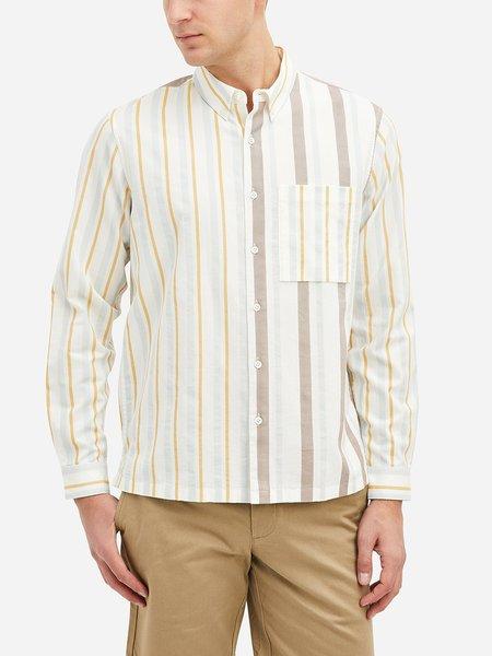 O.N.S Vance Construct Stripe Shirt - Russet Orange