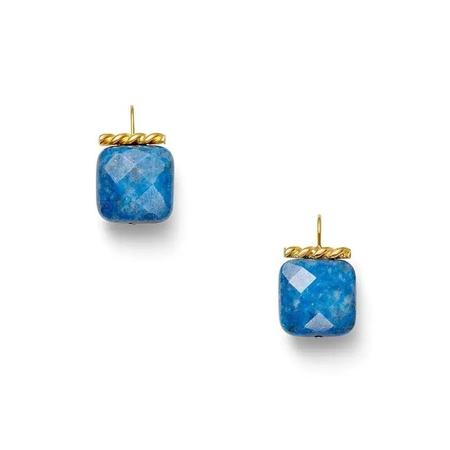 CC & CO by Catherine Canino Shimmering Lapis Earrings - Gold