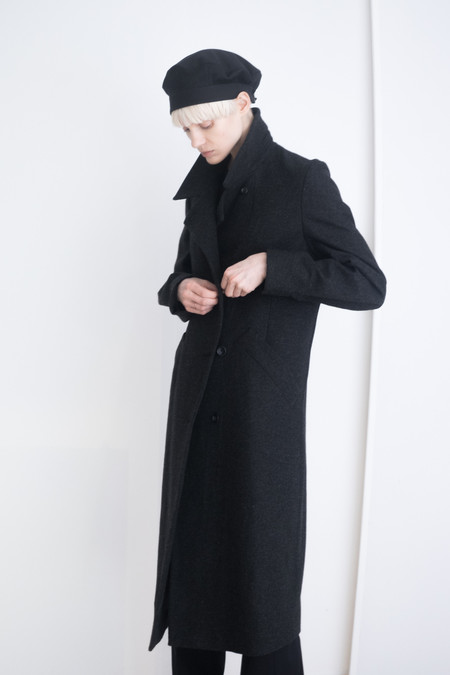 David Michael Collection Fauste Coat Charcoal