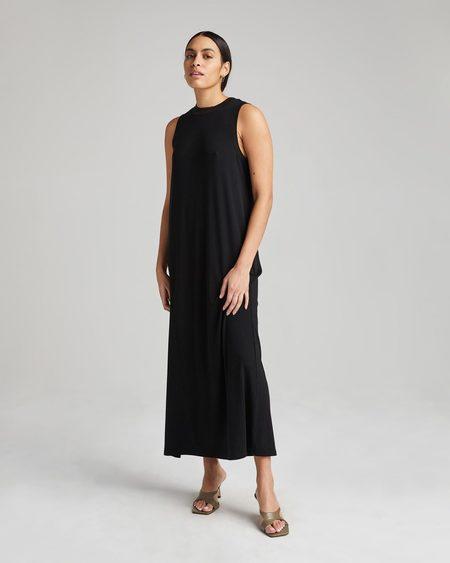 Richer Poorer Vintage Rib Column Dress - Black