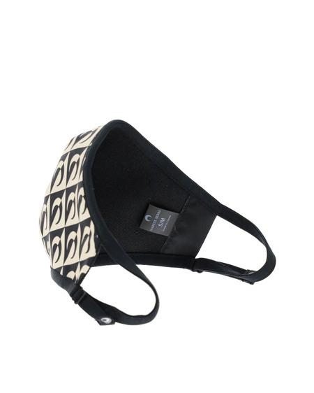 Marine Serre Mask with All Over Logo - Black/Beige