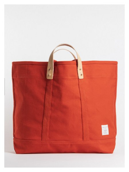IMMODEST COTTON Large East West Tote - Persimmon