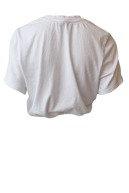 The Range Substance Jersey Bubble Cropped Tee - White