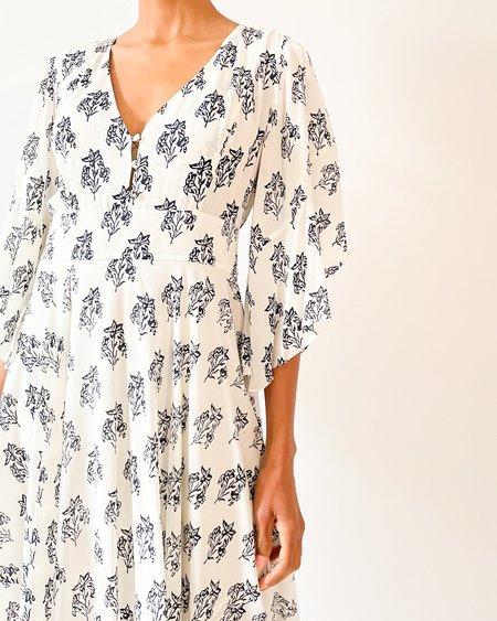 [Pre-loved] A.L.C. Printed Midi Dress - Black/White